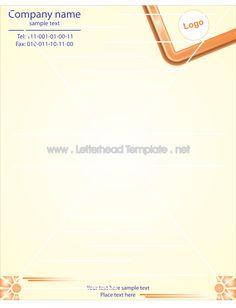 half frame letterhead template