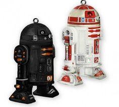 Star Wars R2-Q5 R2-A3 ComicCon Hallmark exclusive NYCC 2011 ornament droids pair