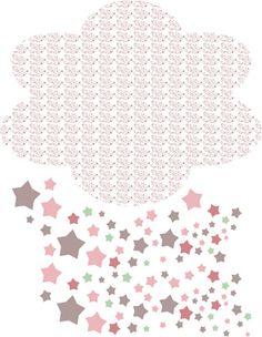 Nuage d'étoile fille. Création Art for kids