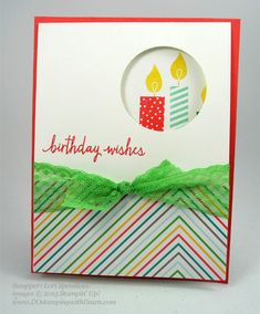 Build a Birthday swap card shared by Dawn Olchefske #dostamping #stampinup (by Lori Spendlove)