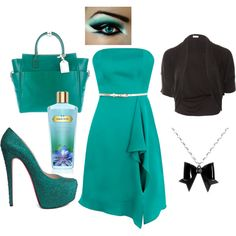 Teal Beauty, created by stefany-marie-mcdonald.polyvore.com