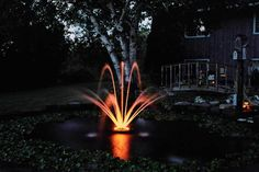 Kasco 1400JFL 1/4 HP Floating Fountain With LED Lights For Ponds Condor pattern 4'x4' inner arch and 2'x10' outer tier arch