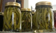 dilly beans dill pickled green beans - made these this year! Just love them. I could sit and eat the entire jar in one serving