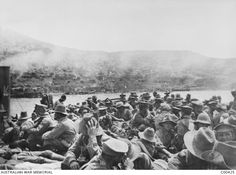 Sick and wounded waiting to evacuate   -  Australian War Memorial