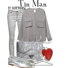 Do silver/grey men's clothes for my hubby - Tin Man, created by lalakay on Polyvore #wizardofoz