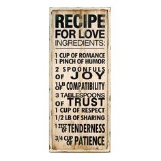Wall Art Decor 1500x1500 Rodworks Recipe For Love Wall Art Rodworks