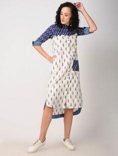 Women S Fashion Kuala Lumpur Stylish Dress Designs, Stylish Dresses, Cotton Dresses Online, Ikat Dresses, Frock Fashion, Fashion Clothes, Kurti Embroidery Design, Frock For Women, Kurta Neck Design