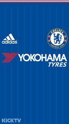 Chelsea FC 2015-16 Home Kit phone wallpaper.