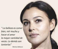 Frases Belleza, básico para ser feliz, dicho por Mónica Bellucci. con @PremierESP #FrasesBelleza #MonicaBellucci #MáximasPRemier