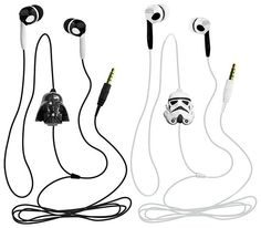 Star Wars Earbuds with Vader or Stormtrooper mics