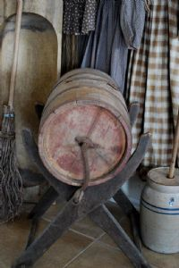 Antique Primitive Churn with Original Stand