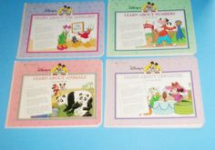 Disney Learn With Mickey Activity 4 Books Opposites Numbers Alphabet and Animals