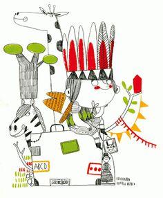 Les il·lustracions de Christine Roussey: tot un món amb traços infantils