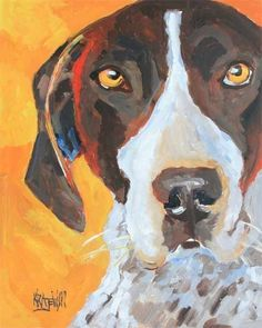 German Shorthaired Pointer Art Print of Original by dogartstudio