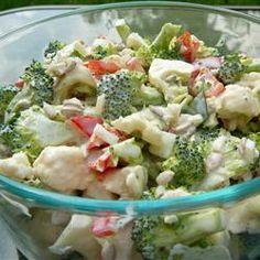 Broccoli Cauliflower Pepita Salad Allrecipes.com