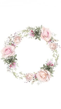 Flower Backgrounds, Flower Wallpaper, Iphone Wallpaper, Wreath Drawing, Decoupage Paper, Instagram Highlight Icons, Floral Border, Flower Frame, Flower Tattoos