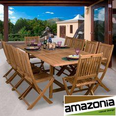 Amazonia Teak Toulouse 11-piece Teak Dining Set