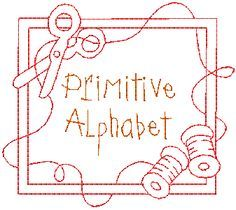 primitive stitchery patterns free | Create your own wordings with thisprimitive alphabet in 2 styles: