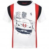 Ferrari Baby Boys White Car Print Top