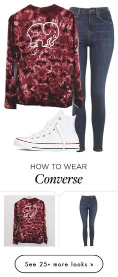 """ivory ella shirt - insp"" by littlemixmakeup on Polyvore featuring Topshop and Converse"
