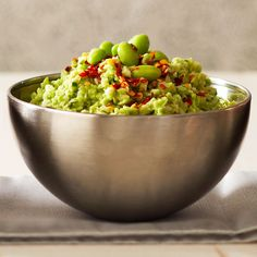 Using frozen instead of fresh edamame in this Asian-inspired hummus means you get to spend more time enjoying and less time prepping! http://www.bhg.com/recipes/vegetable/10-surprising-things-to-do-with-frozen-vegetables/?socsrc=bhgpin051015frozenvegetablehummus&page=4