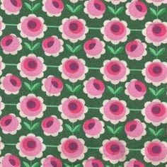 Fabric Blossom Green van Hamburger Liebe  - Juffertje Uil