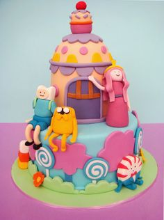 Adventure time cake - we love it t-booth.net