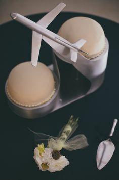 @mikaellabridal | Aviation themed wedding cake stand.