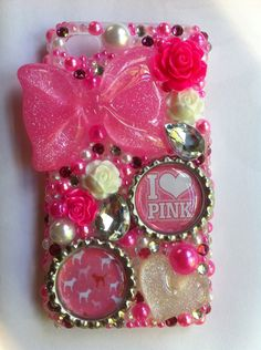 Need! PINK Victorias Secret iPhone 4 bling case by sparklingskye on Etsy, $35.00