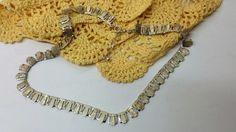 Vintage Halsschmuck - Collier Halskette 835 Silber Gliederkette HK182 - ein…