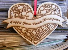 Sugar and Spice and all things nice personalised wooden decoration £10.00
