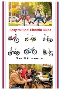 Check out our large selection of Electric Bikes that are easy to ride! #electricbike #bike #bicycles