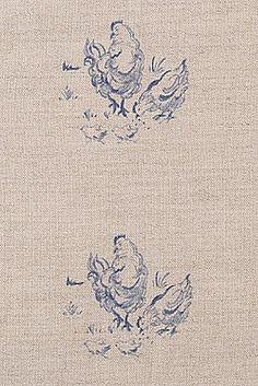 Chickens Fabric - Emily Bond