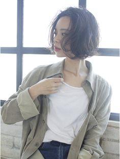 アルバム シブヤ(ALBUM SHIBUYA) 【ALBUM渋谷】森田_くせ毛風ラフボブ_9831