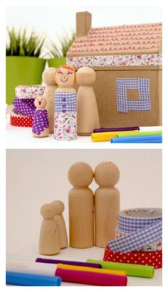 Fun Play Date Idea: Make your own washi tape dolls - perfect for pretend play!
