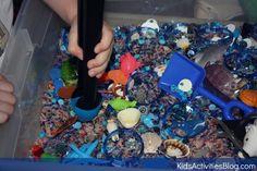 Ocean Sensory Bin - Kids Activities Blog