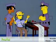 Moe Gets Put On The Lie Detector On #Simpsons - #funny