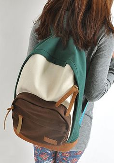 Korean Styled Canvas Backpack