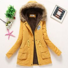 Gender: Women Outerwear Type: Down & Parkas Clothing Length: Long Closure Type: Zipper Filling: Cotton Fabric Type: Denim Hooded: Yes Down Content: 90% Sleeve Length: Full Decoration: Pattern,Pockets,