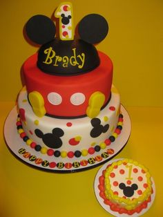 1st Birthday Mickey Mouse Smash The House Of Cakes