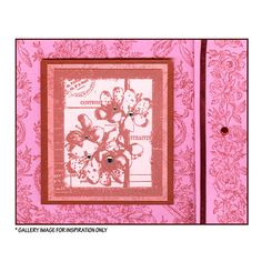 Crafty Individuals CI-113 - 'Floral Collage' Art Rubber Stamp, 65mm x 75mm - Crafty Individuals from Crafty Individuals UK