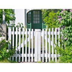 Herbaceous Perennials, Flowers Perennials, Brick Path, Front Gates, White Fence, Bamboo Fence, Earthship, Garden Fencing, Dream Garden