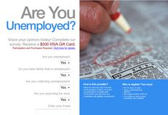 #FreeStuff: Are you #unemployed? Take this #survey for a chance ...
