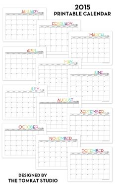 2015 printable calendar $5 (This is the updated version of the one I used last year)