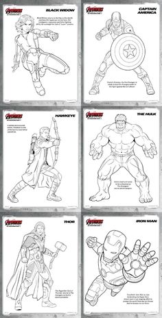 avengers age of ultron review and free printable coloring pages avengers - Free Printable Coloring Pictures