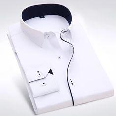 Gents Kurta Design, Boys Kurta Design, Stylish Shirts, Casual Shirts, Man Dress Design, Smart Casual Menswear, Plain White Shirt, Designer Clothes For Men, Men Dress