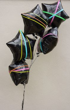 washi tape decorated mylar-balloons