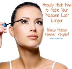 How to Make Your Mascara Last Longer + Bonus Makeup Remover Recipe.. mascara is not cheap. Unfortunately, it often dries out long before it should leaving you to have to replace it. If you want to prolong the life of your mascara, there is an easy and effective way to do so and if you already have the ingredients at home, it is a really cheap way to prolong mascara life.