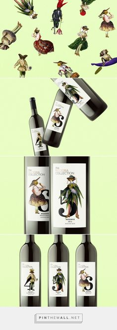 Graphic design, illustration and packaging for The Madeira Collection Wine on Behance by Görlitz, Germany curated by Packaging Diva PD. Label designs created for an ongoing series of The Madeira Collection wines.