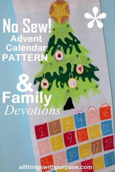 Advent Calendar Pattern and Free (Tablet Friendly) Family Devotions PDF